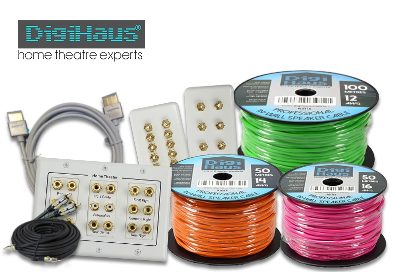 Digihaus speaker cables, hdmi, rca, wall plates